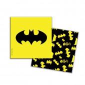 Batman. Салфетки бумажные трехслойные (желтые) 33*33 см, 12 шт