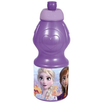Бутылка пластиковая (спортивная, фигурная, 400 мл). Холодное сердце 2