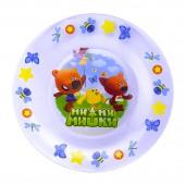 Тарелка «Мимимишки» Кеша, Лисичка и Цыпа, 19,5 см, стекло