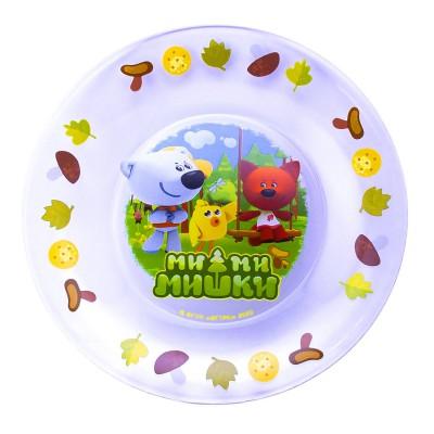 Тарелка «Мимимишки» Тучка, Лисичка и Цыпа, 19,5 см, стекло