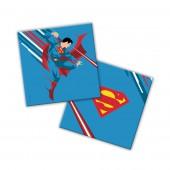 Superman. Салфетки бумажные трехслойные (синие) 33*33 см, 20 шт