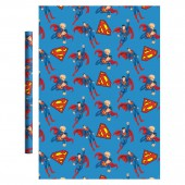 Superman. Упаковочная бумага (синяя), 700*1000 мм, 2 шт в рулоне