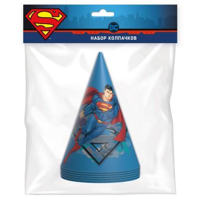 Superman. Набор колпачков (синие с героем), 6 шт