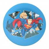 Superman. Набор бумажных тарелок-1, 6 шт d=180 мм