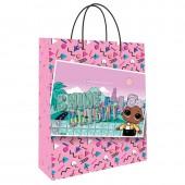 LOL. Пакет подарочный большой (розовый паттерн с картинкой), 250*350*100 мм