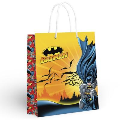 Batman. Пакет подарочный большой (желтый с красным), 250*350*100 мм