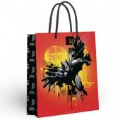 Batman. Пакет подарочный большой (оранжевый), 250*350*100 мм