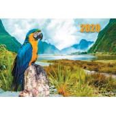 Календарь квартальный. Природа