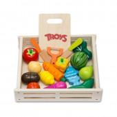Набор игровой детский деревянный Овощи и фрукты