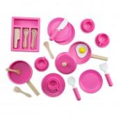 Набор посуды игровой детский деревянный