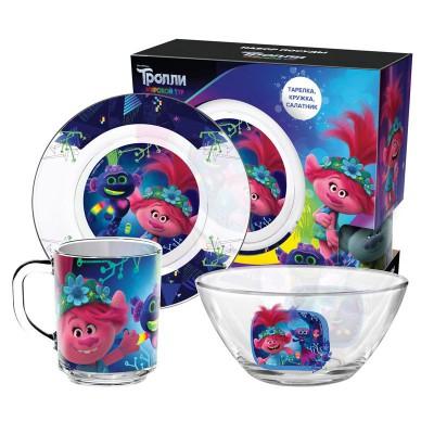 Набор «Тролли 2» Серия Техно, (3 предмета, подарочная упаковка), стекло