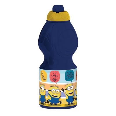 Бутылка пластиковая (спортивная, фигурная, 400 мл). Миньоны 2