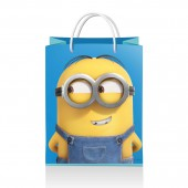 Minions 2. Пакет подарочный малый (голубой), 180*223*100 мм (3D дизайн)