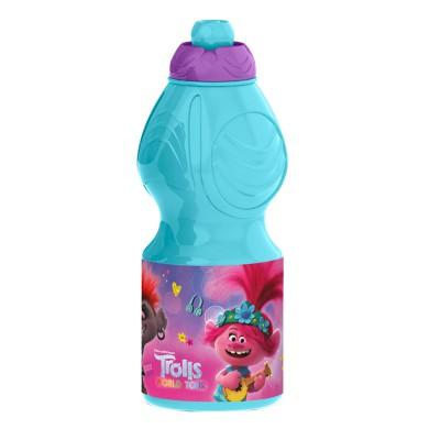 Бутылка пластиковая (спортивная, фигурная, 400 мл). Тролли 2. Мировое турне