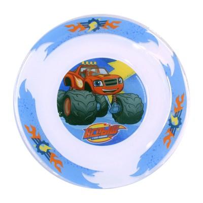 """Тарелка """"Вспыш и чудо-машинки"""", Вспыш - Трек 2.0, 19,5 см, стекло"""
