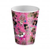 LOL. Набор бумажных стаканов (розовые с паттерном), 6 шт*250 мл