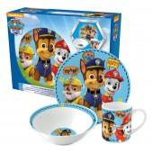 Набор посуды керамической в подарочной упаковке (3 предмета). Щенячий патруль. Мальчик. Символы
