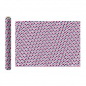 LOL. Упаковочная бумага (бело-розовая полоска), 700*1000 мм, 2 шт в рулоне (EV_19)