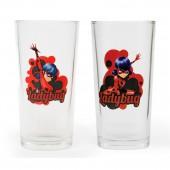 "Набор стаканов ""Леди Баг и Супер Кот"" 2-а дизайна, (200 мл, 2 шт) стекло"