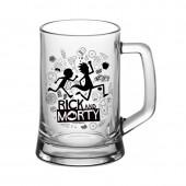 "Кружка для пива ""Ладья"" 500 мл ""Рик и Морти"""