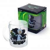 """Кружка чайная 320 мл """"Рик и Морти"""" Рик (черная), в подарочной упаковке"""