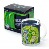 """Кружка чайная 320 мл """"Рик и Морти"""" Портал (черная), в подарочной упаковке"""
