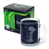"""Кружка чайная 320 мл """"Рик и Морти"""" черная круговая, в подарочной упаковке"""