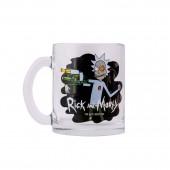 """Кружка чайная 320 мл """"Рик и Морти"""" Рик (черная), лепок"""