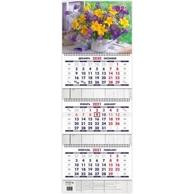 """Календарь квартальный """"Букет. Маркет"""" на 2021 год"""