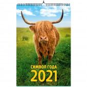 """Календарь на спирали """"Символ года 1. Маркет"""" на 2021 год"""