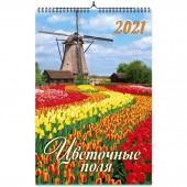 """Календарь на спирали """"Цветочные поля. Маркет"""" на 2021 год"""