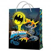 Пакет подарочный большой DC Comics Batman (сине-черный с паттерном), 335*406*155 мм