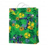 Пакет подарочный большой DC Comics Joker (зеленый паттерн), 250*350*100 мм