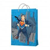 Пакет подарочный большой Superman-1, 335*406*155 мм