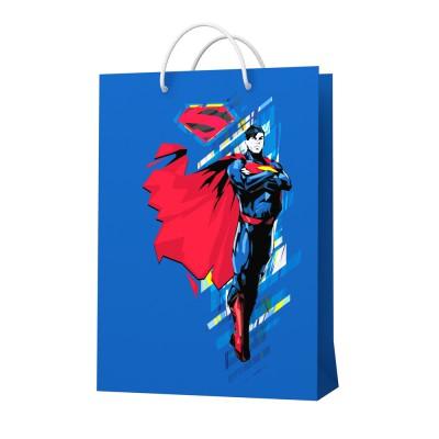 Пакет подарочный большой Superman-3, 250*350*100 мм