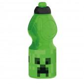 Бутылка пластиковая (спортивная, фигурная, 400 мл). Майнкрафт
