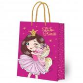 Пакет подарочный большой Принцесса, 335*406*155 мм