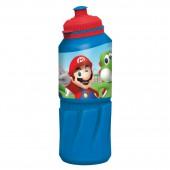 Бутылка пластиковая (спортивная 530 мл). Супер Марио