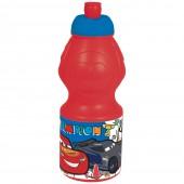Бутылка пластиковая (спортивная, фигурная, 400 мл). Тачки. Будет гонка!