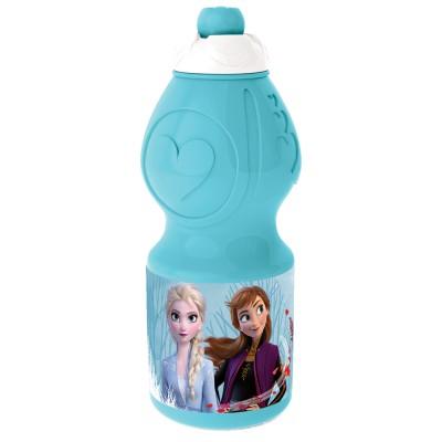 Бутылка пластиковая (спортивная, фигурная, 400 мл). Холодное сердце 2 Синий лес