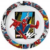 Тарелка пластиковая (для СВЧ). Человек-паук Улицы