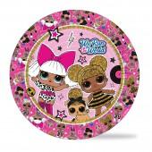 LOL. Набор бумажных тарелок (розовые с паттерном), 6 шт d=180 мм