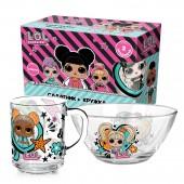 """Набор посуды в подарочной упаковке L.O.L. Surprise! """"WhatUnitesUs"""", (2 предмета), стекло"""