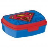 Ланч-бокс пластиковый (17х14х5,6). Супермен Символ