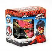 """Кружка """"Леди Баг и Супер Кот"""" Комиксы, в подарочной упаковке, 230 мл, стекло"""