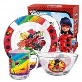 """Набор """"Леди Баг и Супер Кот"""" Комиксы, (3 предмета, подарочная упаковка), стекло"""
