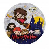 Harry Potter. Набор бумажных тарелок, 6 шт, d=180 мм (чиби)