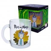 """Кружка чайная 320 мл """"Рик и Морти"""", Воронка, в подарочной уаковке, стекло"""