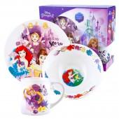 """Набор посуды в подарочной упаковке """"Принцессы"""", Моя история, 3 предмета,  фарфор"""