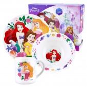 """Набор посуды в подарочной упаковке """"Принцессы"""", Принцессы в сборе, 3 предмета,  фарфор"""